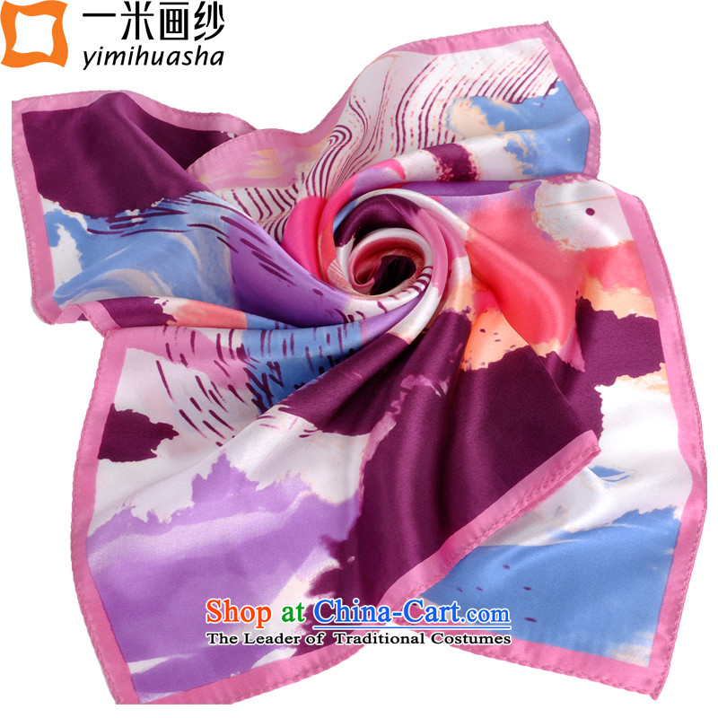 One meter animation yarn spring and summer Ms. silk scarves silk President Dos Santos silk scarves gift and classy towel Iris - Pink edge