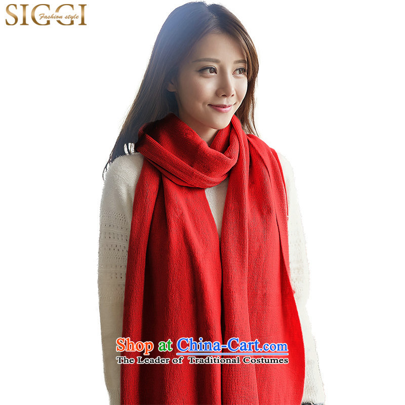 Siggi聽Korean autumn Ms. Winter Sweater Korea Fancy Scarf use two female couple knitting a red