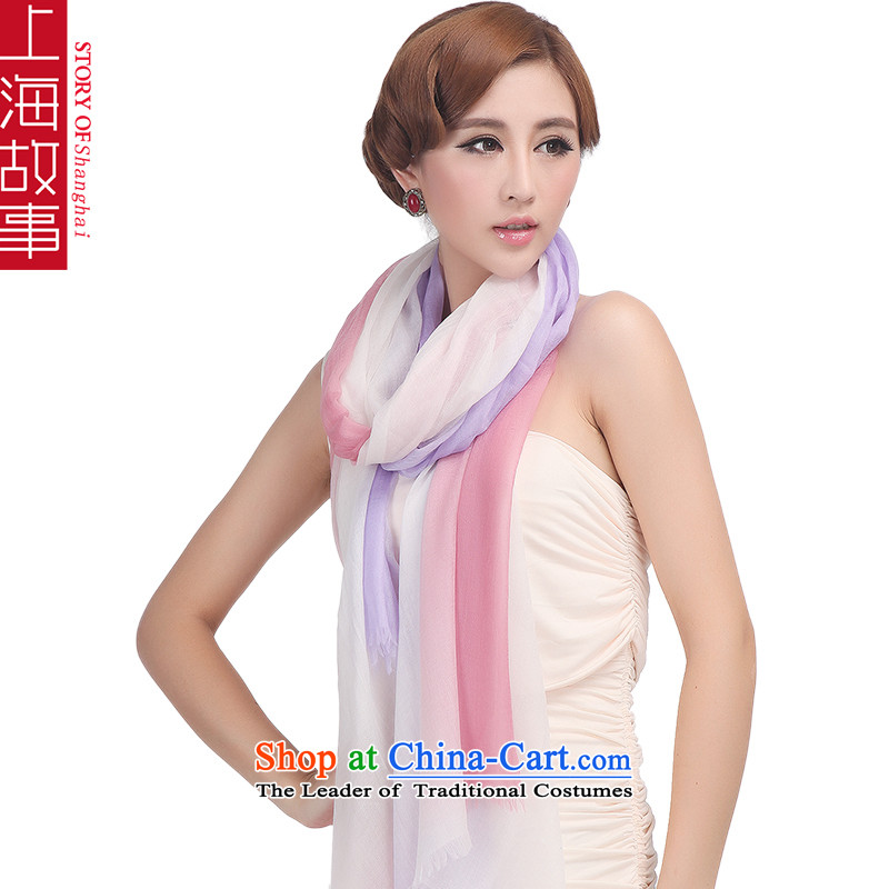Shanghai Story pure Cashmere scarf, autumn and winter shawl a light violet magenta