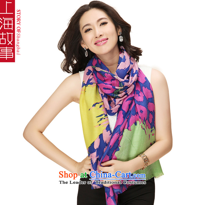 Shanghai Story Pure Wool scarves, autumn and winter shawl a point in the toner color leopard