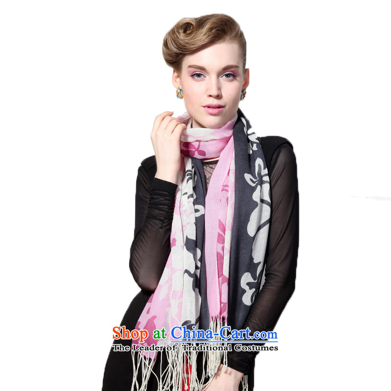 Hengyuan Cheung wool Ms. stamp long scarf gifts for both 99.3 _Boxset_ dual simulacrum gray powder