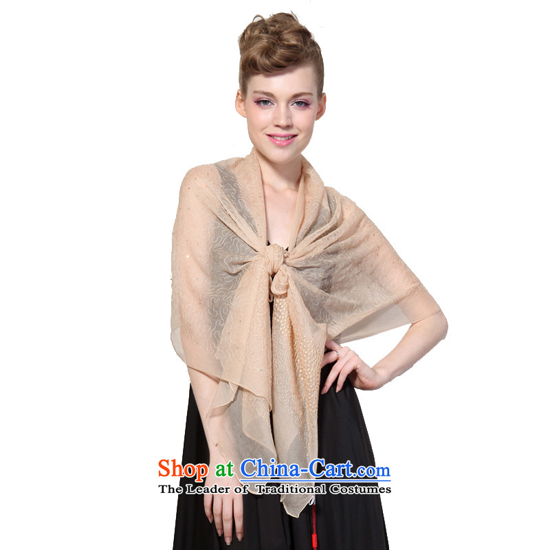 Hang Cheung New Source herbs extract super star silk scarves 8041 herbs extract _Boxset_ Khaki