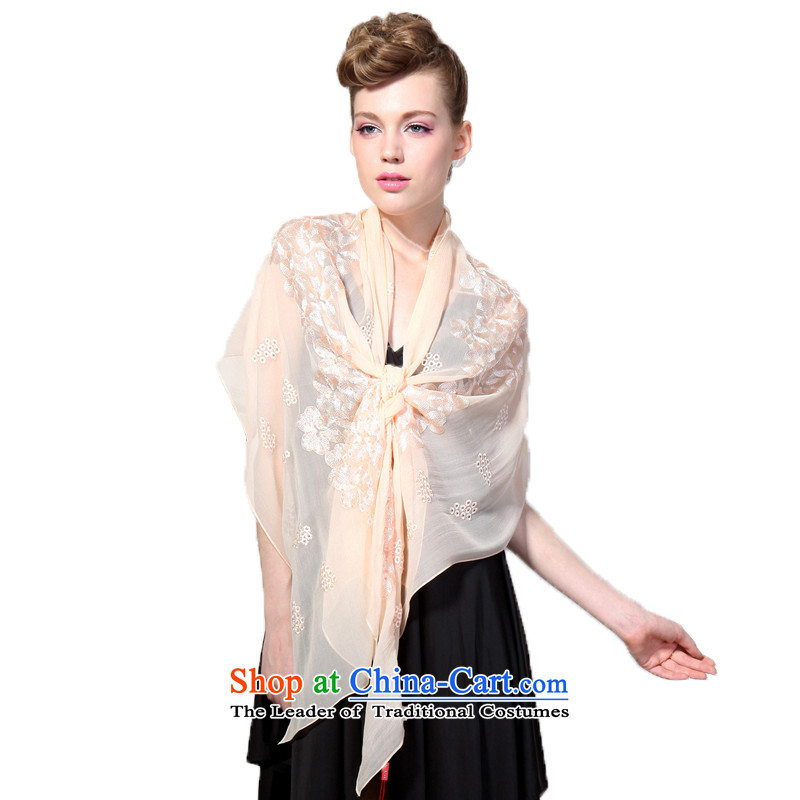 Hengyuan Cheung embroidery herbs extract long silk scarf of snow Mei _Boxset_ 8121 blood Bluetooth color