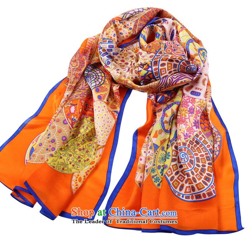 Shanghai Story autumn and winter silk scarfs herbs extract female long shawl wild orange
