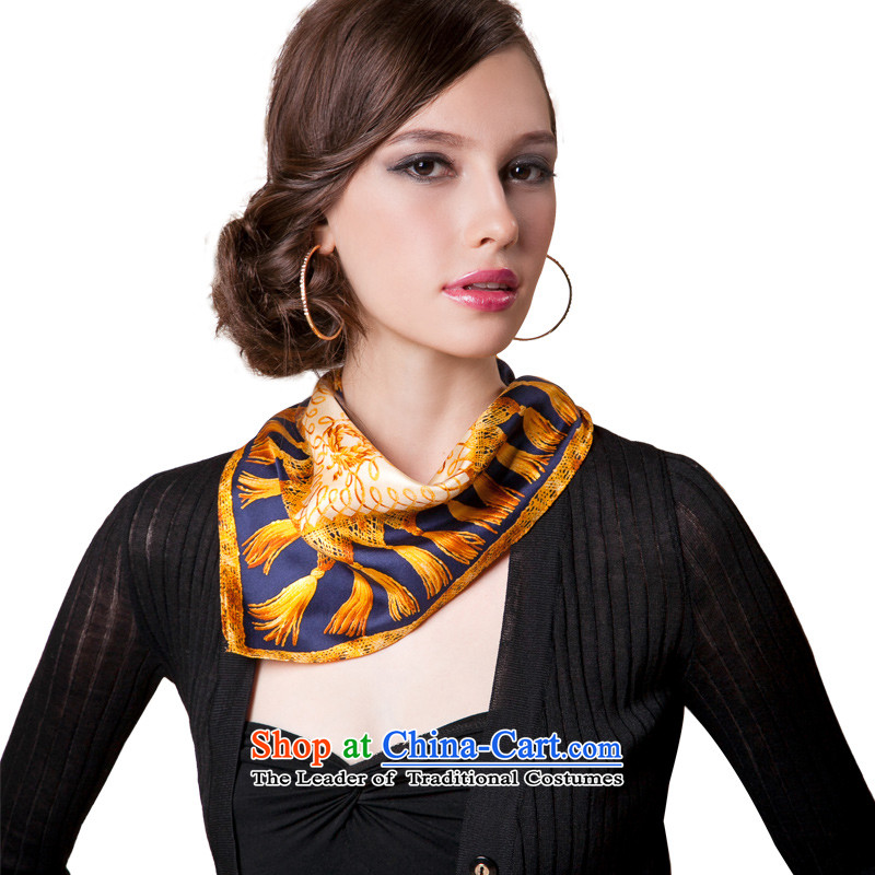 Fourth Quarter Common ZASN silk small square cloths vocational air hostesses silk scarves DXF001 small tea color small square cloths