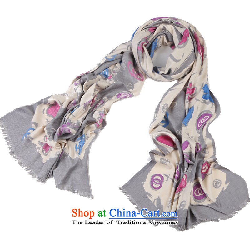 Shanghai Story silk scarves female herbs extract intensify scarf thick incense to gray-haired