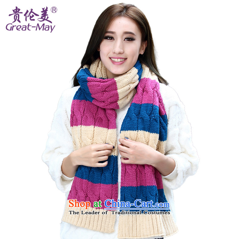The fall of the scarf install new Korean autumn Ms. Winter twist knocked color long line of the scarf warm scurf knitting Wai Shing WJ0031 05 Blue purple聽170CM-230CM M
