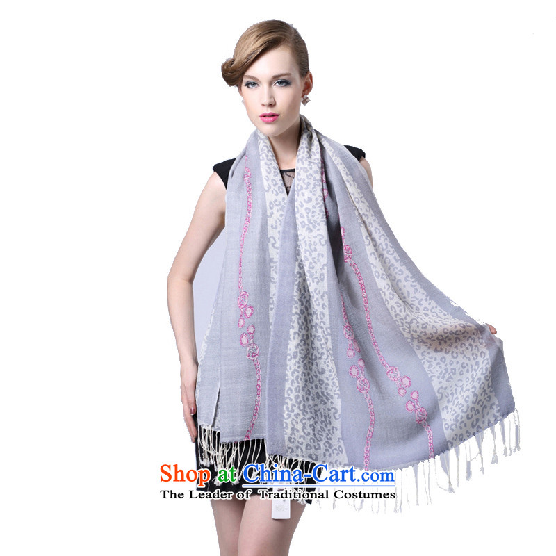 Hang Yuen Cheung-Worsted wool stamp long scarf lingeringly _Boxset_ Gray