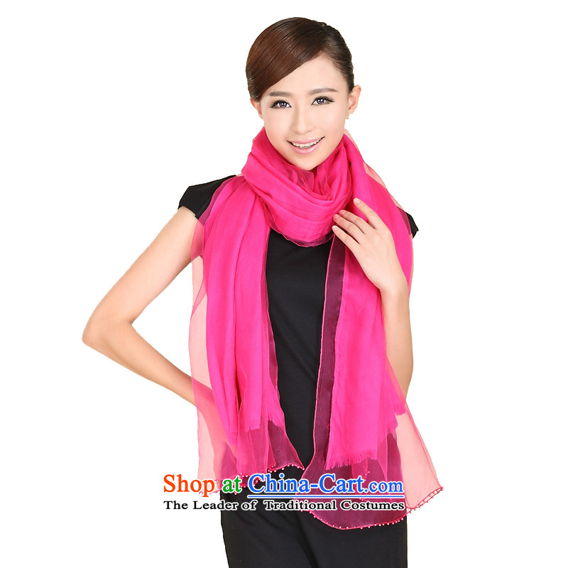 Shanghai Story autumn and winter new wool jacquard silk scarf of Pearl set color thick warm double-grown up in Red Shawl 158060