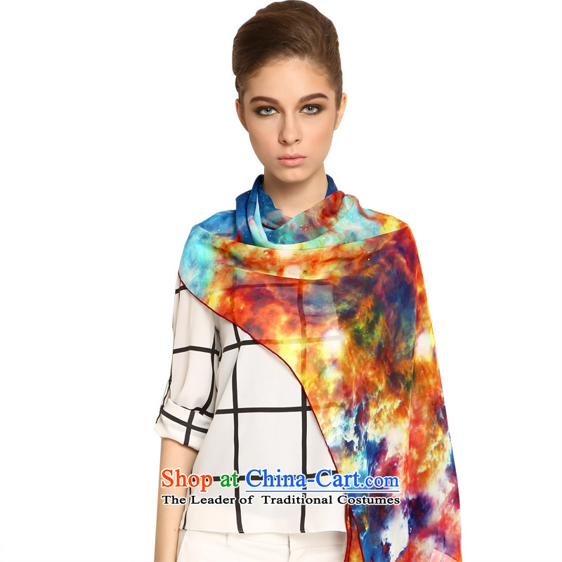 Ms. BAOSHIDI precious stones butterfly silk poster long towel fall new scarf herbs extract gift silk scarf/stars is classic color