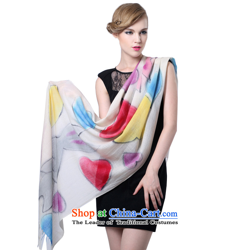 Hengyuan Cheung stamp wool long scarf worsted hand painted pashmina shawl, thin (Boxset )3032 9# color