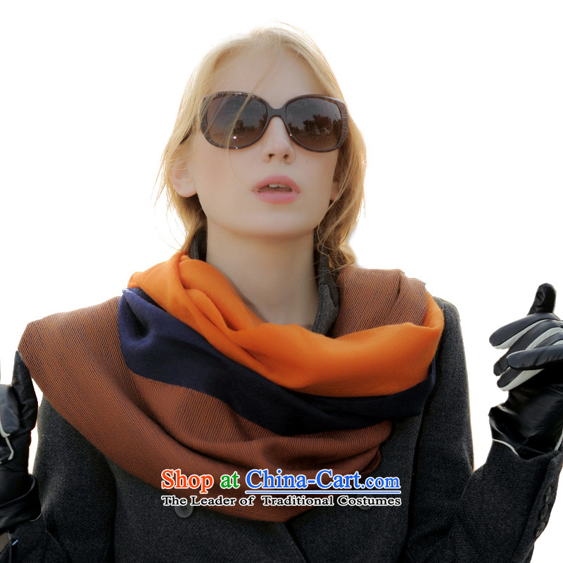 Da Avila dream wool Fancy Scarf new western style shawl two with winter Thick Long Wave, female warm and comfortable classic three-blade -C1 scarf