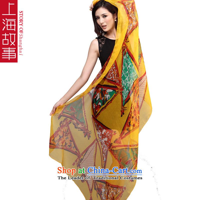 Shanghai Story 2013 autumn and winter new shun felt giossan silk shawls silk scarfs oversized right Mr Donald Tsang Huang - Flag Kwai