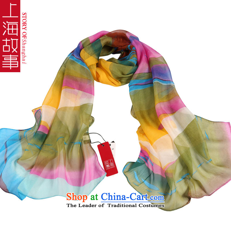 Shanghai Story Zephyr dancing herbs extract silk scarves Fancy Scarf gittoes yarn masks in light dance #11