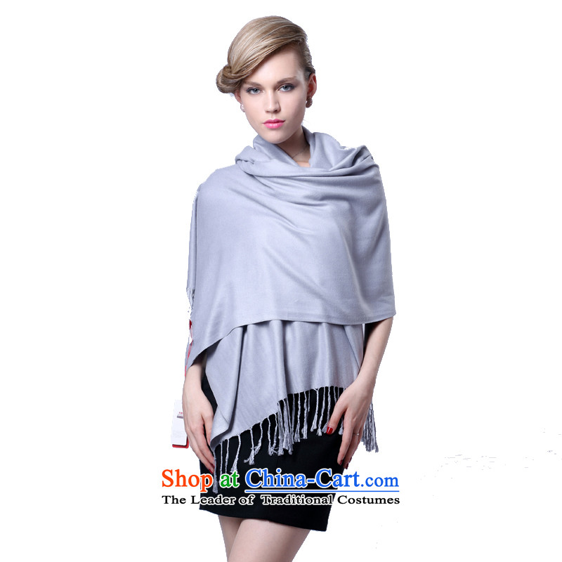 Hang Cheung cashmere texture Ms. Source Fancy Scarf dual-use autumn and winter air conditioning a gift larger shawl red _Boxset_ Gray