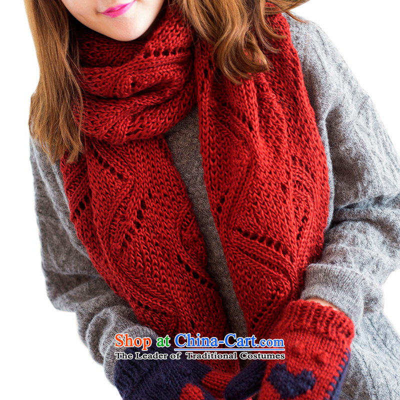 Pink sheep scarf female winter thick beauty cherry rusty red scarf 186cm_ long wide 53cm