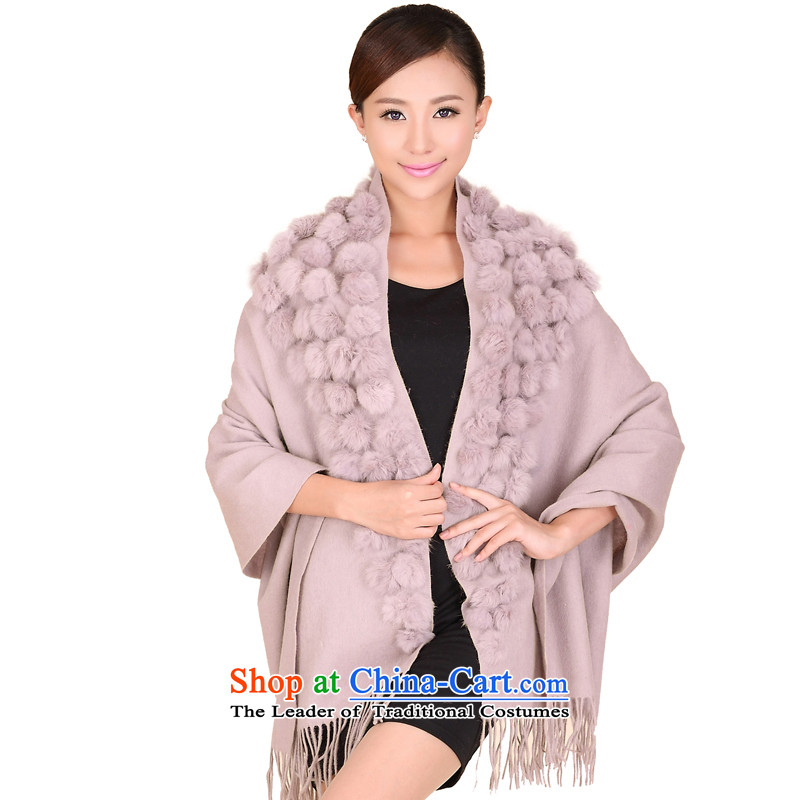 Shanghai Story triangular angora wool large shawl ball autumn and winter warm thick solid shawl 176016 usual zongzi color
