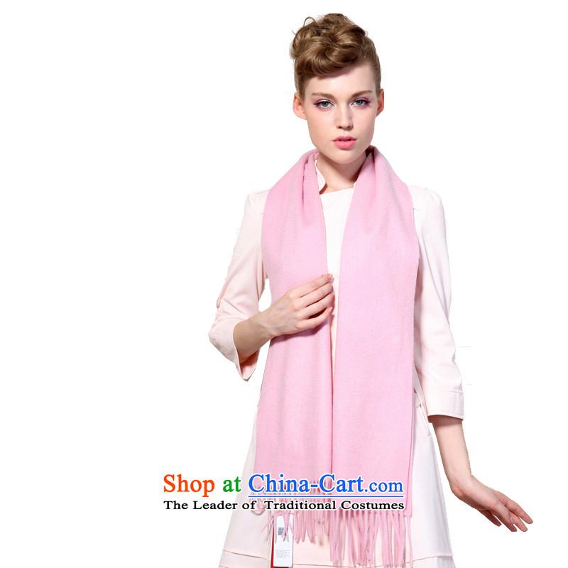Hengyuan Cheung latticed monochrome wool Lamb Wool Velvet unisex couples long scarf _Boxset_ Monochrome Pink