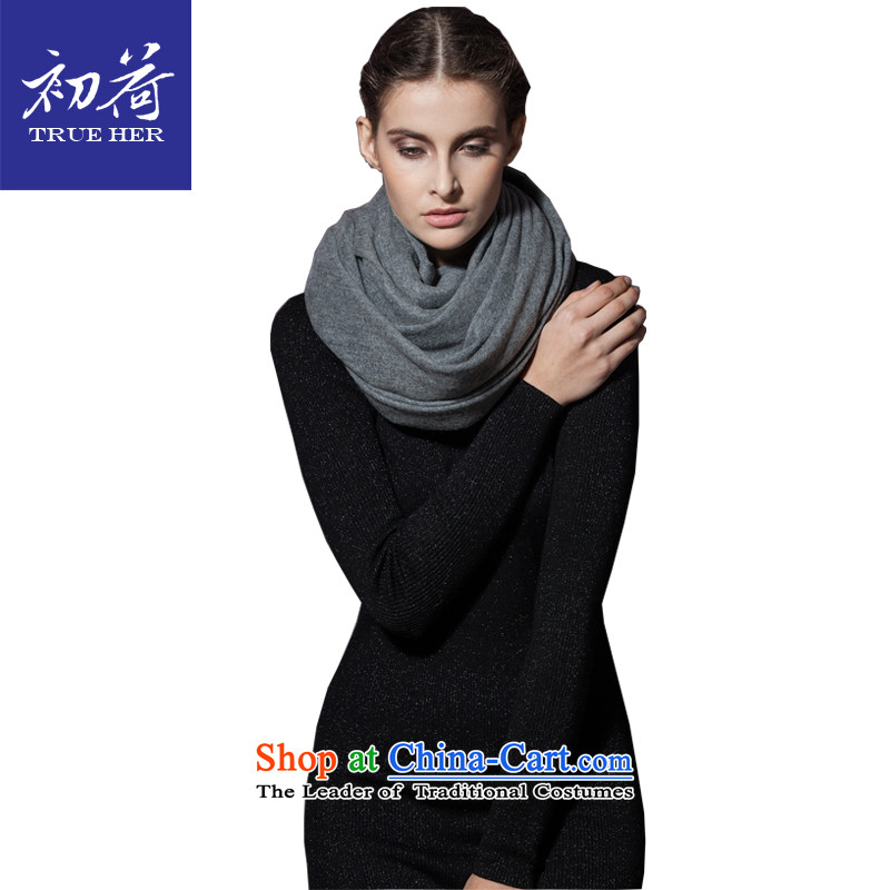 I should be grateful if you would arrange early boutique cashmere shawls pure color, long thick wool scarf autumn and winter warm shawl4313Elite Series Gray
