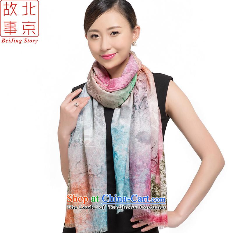Beijing2015 new story o wooler scarf women winter 72 support digital inkjet warm long a shawl178002gray impression