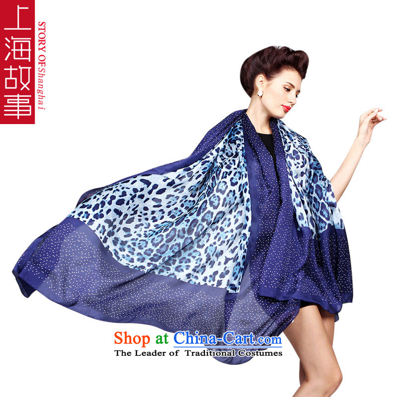 Shanghai Story herbs extract silk scarfs shawls two print oversized chiffon 140cm*200 extra-long 1#