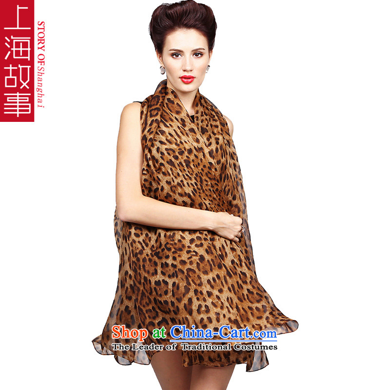 Shanghai Story 100 herbs extract silk scarfs shawl use two large fall silk intensify leopard stew