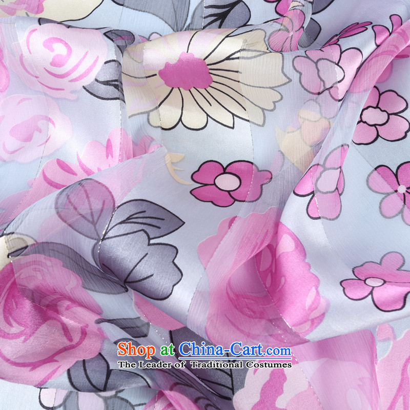Shanghai Story satin rose herbs extract silk scarves female scarf sunscreen shawl small gray with flowers, Shanghai Story STORY IN SHANGHAI) , , , shopping on the Internet