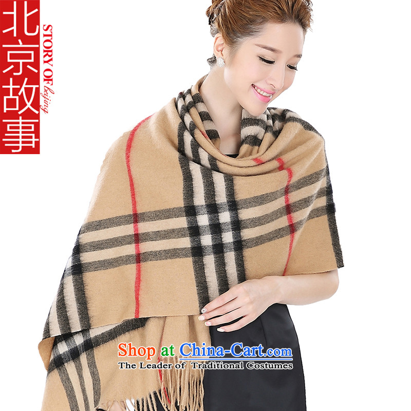 Beijing story wooler scarf autumn and winter, Europe and stylish classic of woolen shawl 166091 and of the classic and color