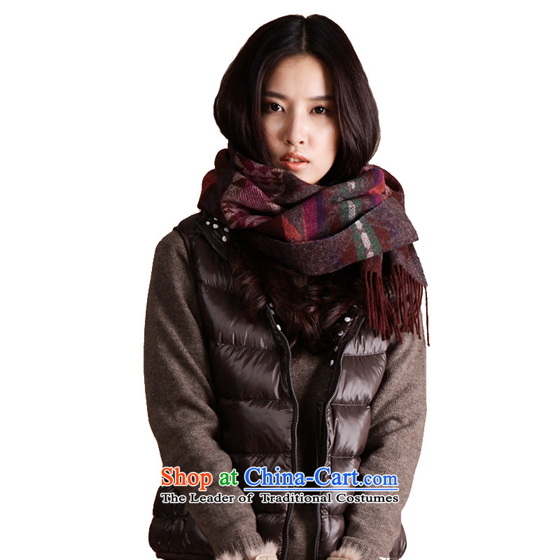 As the end of the scarf couples, spring and autumn woolen shawl scarf shawl L13FC250 warm air-conditioned brown