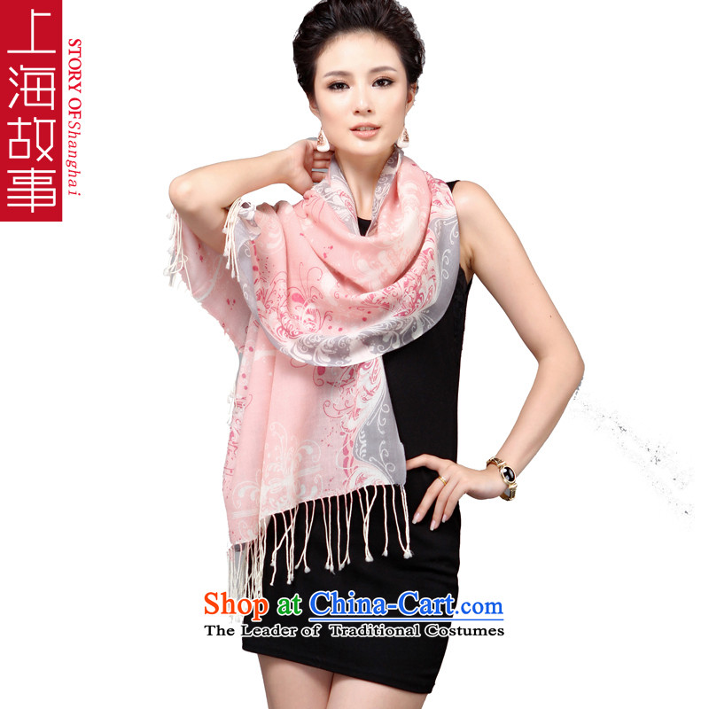 Shanghai Story is colorful woolen scarves aroma of autumn and winter Korean president wooler scarf warm with two shawls colorful Pink