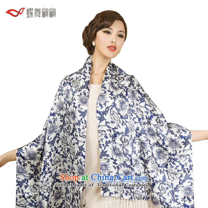 The Butterfly Dance medley porcelain double silk scarves female autumn Fancy Scarf porcelain