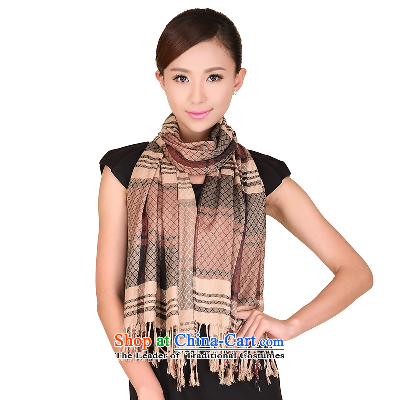 Shanghai Story pure cotton warm scarf female stylish latticed wild autumn and winter 149109 a brown