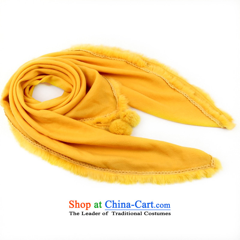 Shanghai Story Ms. winter so color scarves wool rabbit hair of the parties of the scarf thick square shawl 158082 warm yellow