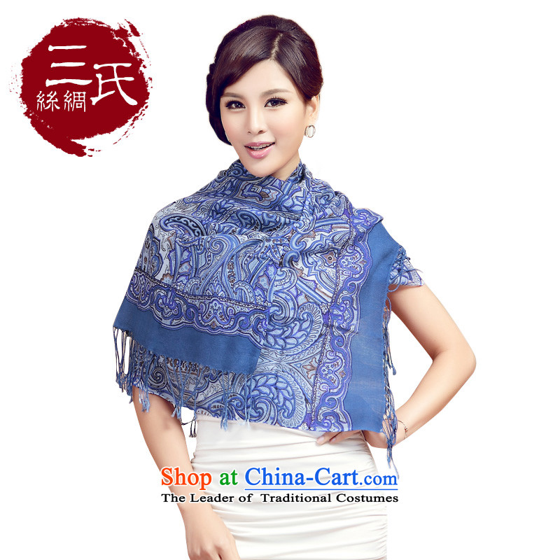 Three ( 2015 autumn and winter scarves new wool quilts retro Ms. Stamp Fancy Scarf classic and elegant w9159