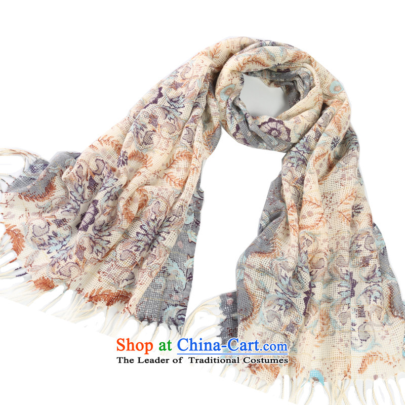 Shanghai Story stunning rose gold engraving female Korean autumn and winter warm stamp wool Fancy Scarf two with - Gray