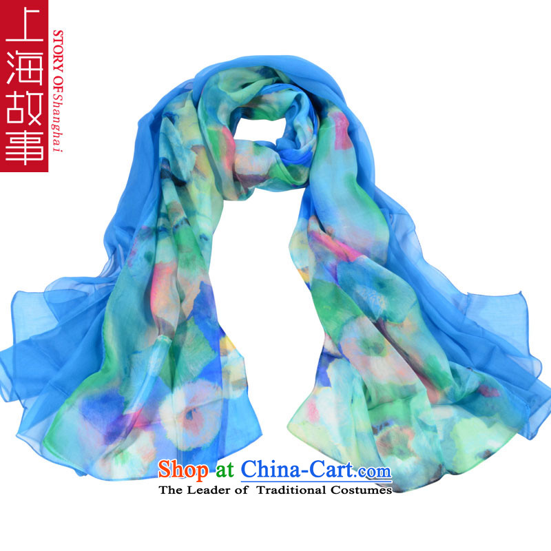 Shanghai Story herbs extract silk scarves Korean autumn and winter female Fancy Scarf use two stitching) 6#
