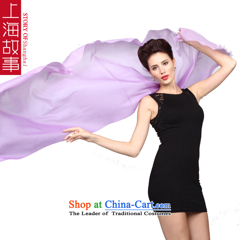 Shanghai Story Korean autumn and winter female luxurious atmosphere gradient ring pashmina shawl, lint-free female cashmere - Deep Violet Gradient