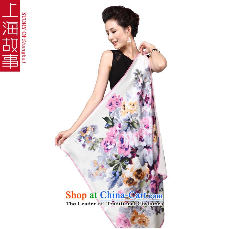 Shanghai Story åüãä life herbs extract silk scarfs shawls and classy towel 90cm gift box flowers feast