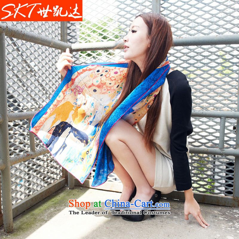 Skt silk paintings stamp silk scarf female spring and autumn 100% herbs extract the shawl scarves, national special package holiday gifts YH25 email