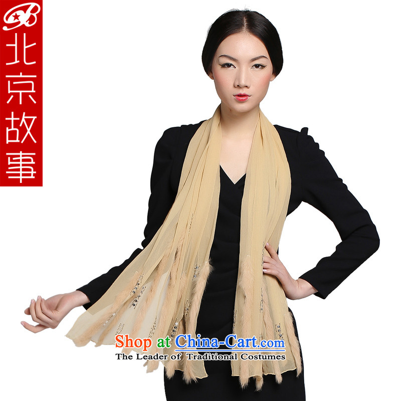 Beijing Spring and Autumn Tale New President Dos Santos silk scarf leisure Ms. wild pure color and woolen cravat turmeric yellow