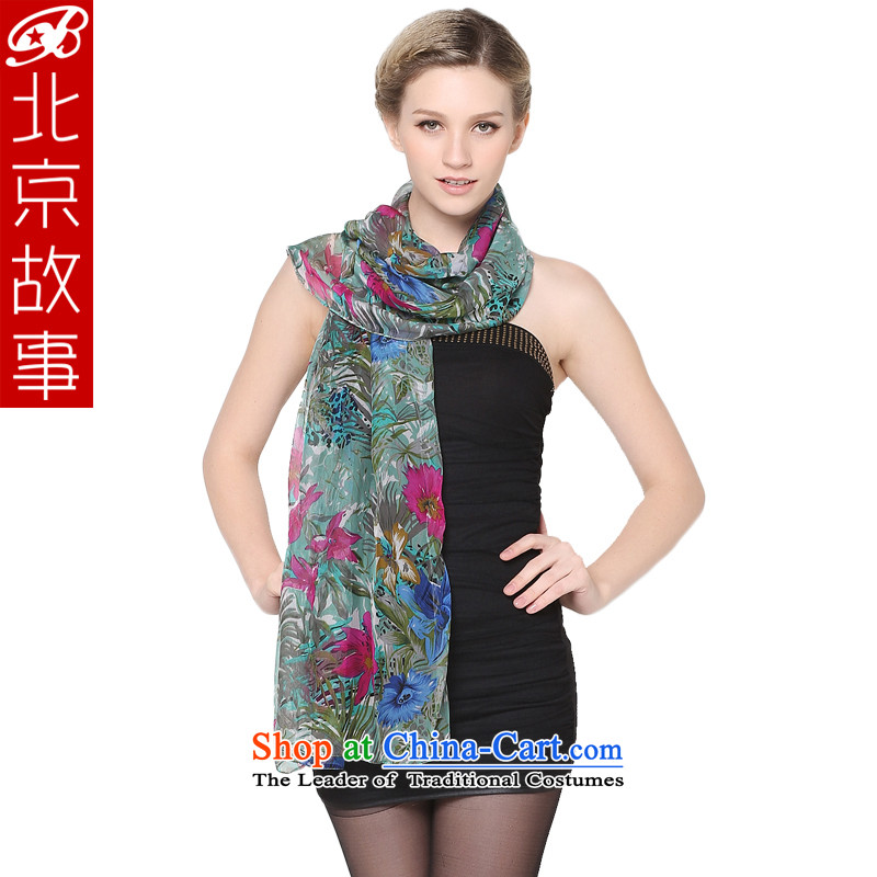 Beijing story of ethnic Ms. silk scarfs herbs extract leisure wild fourth quarter of a silk scarf green 103002