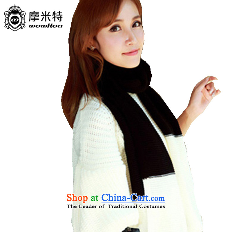 American Samoa's MOMITON Winter Sweater Scarf Korean president ball ball color white + Black are code