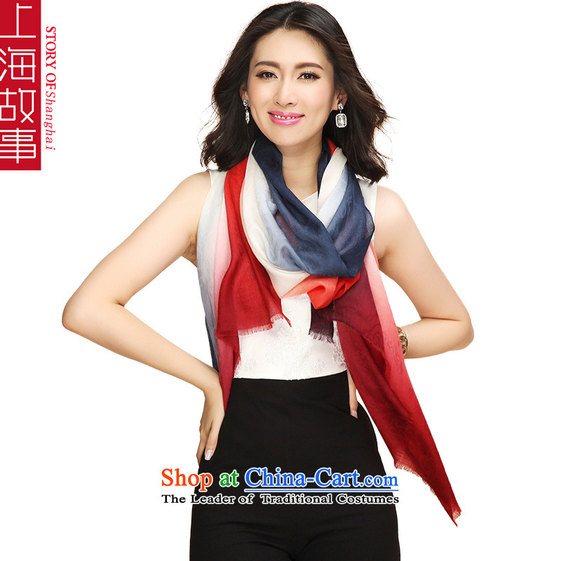 Shanghai Story pure Cashmere scarf, autumn and winter shawl acolor 6#