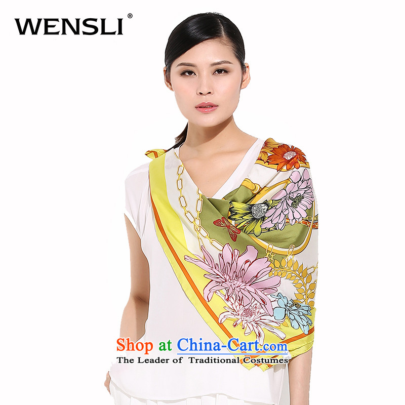 Wensli silk scarf聽100_ sauna Jamsil Silk Wai silk scarves desktop edition and classy towel silk scarf female HIV Vera Garden HIV Vera聽88_88cm Garden