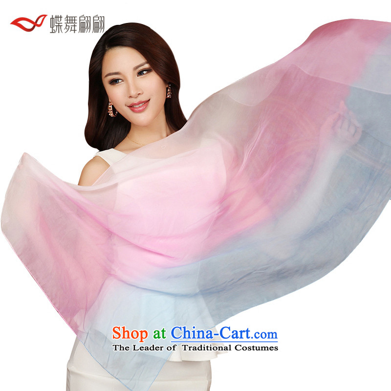 The Butterfly Dance medley hand-painted chiffon pendants silk scarves female autumn scarf knocked toner blue