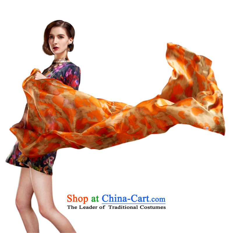 Touch-up long plane collision color Ms. silk large silk scarf herbs extract Korean Maxi Fancy ScarfJ069Suit
