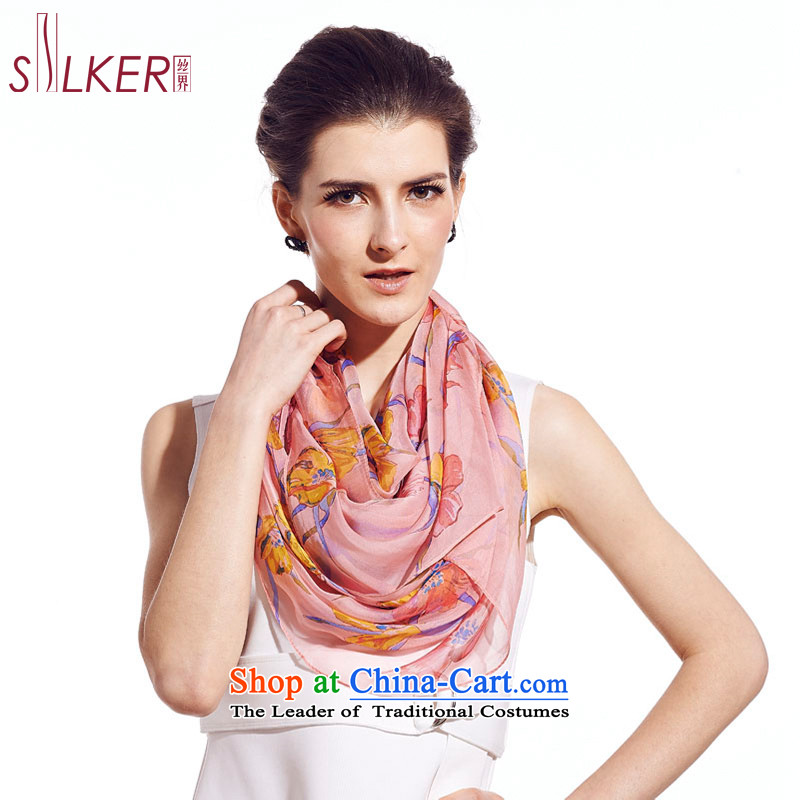 The population sector SIGI100% herbs extract fourth quarter, scarf new women's silk scarf and pink