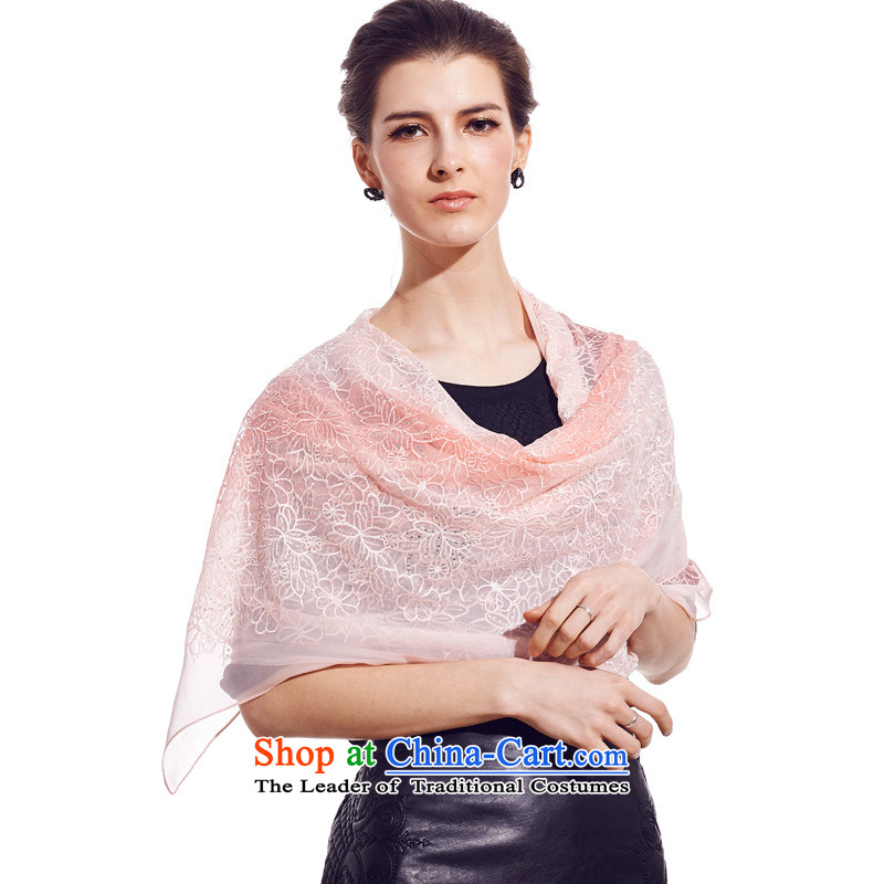 The population of SIGI spring and summer New President Dos Santos silk scarf ironing drill process silk scarf Pink Lady