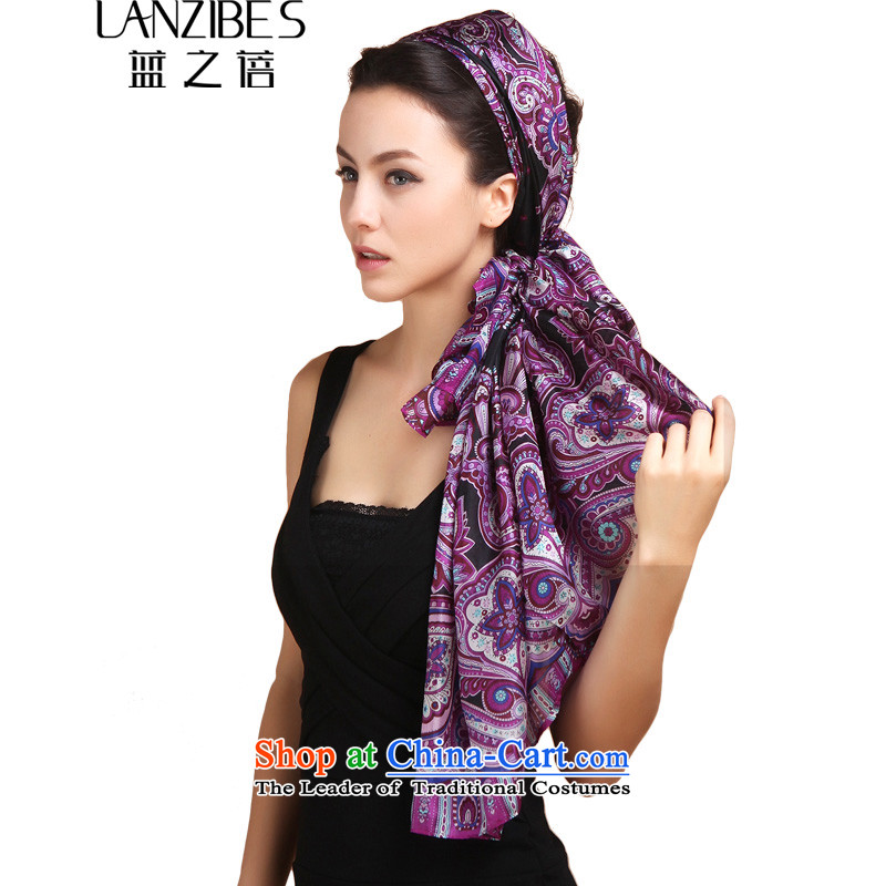 One of the Korean won the autumn and winter long silk scarves herbs extract stamp female warm longer scarf wild a silk scarf with two shawls and Zhu to purple