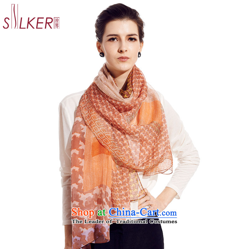 Sigi's spring and summer, the new 100 herbs extract noble long silk scarves, silk scarfs England Chidori Snow Bluetooth
